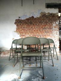 Vintage army folding chair