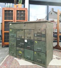 Industrial steel army workbench