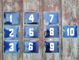 Old enameled house number