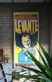 Huge old poster the great Levante