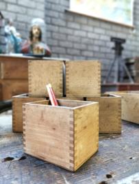 Old beech wood pen tray