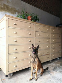 Large industrial wooden drawercabinet