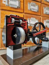 Old steam engine cut away model