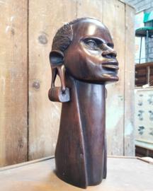 Wooden african Kikuya tribal sculpture