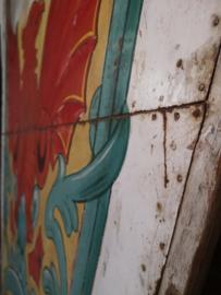 Antique fairgroud carrousel panel