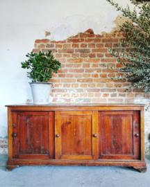 Antique sliding door cupboard