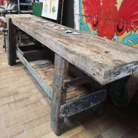 Old wooden workbench