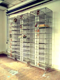 Industrial steel wire locker cabinet