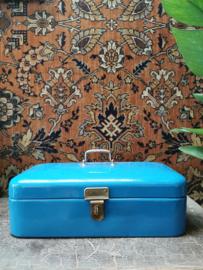Vintage enameled bread box