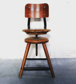 1920's rowac industrial stool