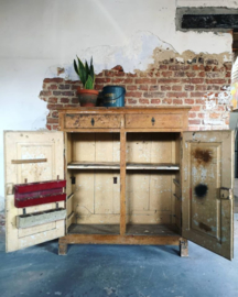 Antique rustic cabinet