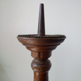 Large victorian oak candle stand