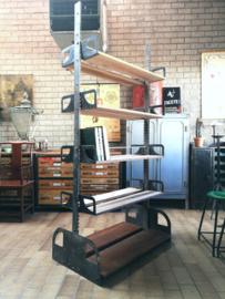Industrial riveted steel shelving unit