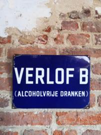 Vintage enamel pub sign, 1950's