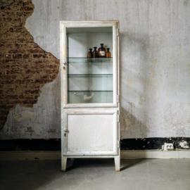 Old wooden medical cabinet