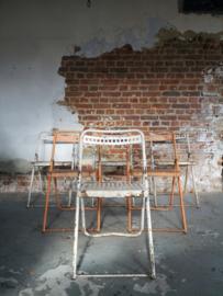 Vintage steel folding chair