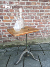 Antique industrial sidetable