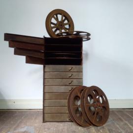 Rare 1920's film reel storage cabinet