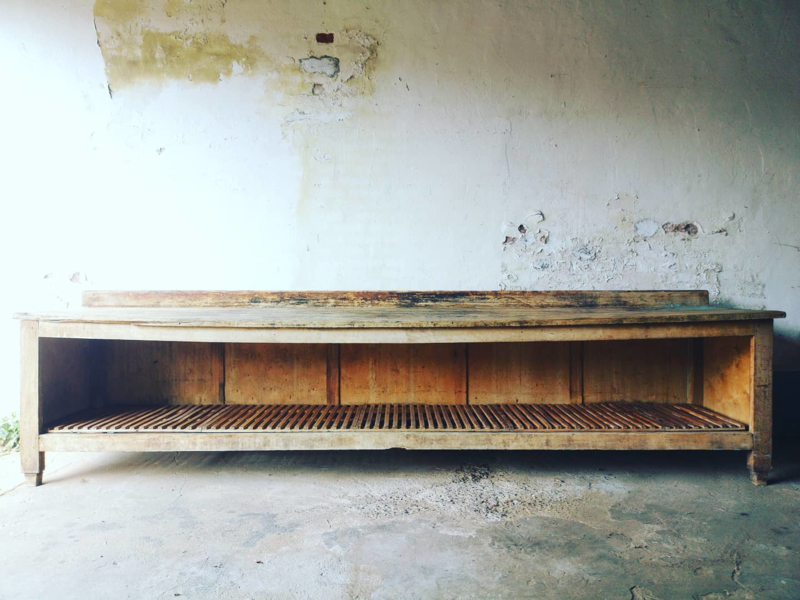 Old large bakery table
