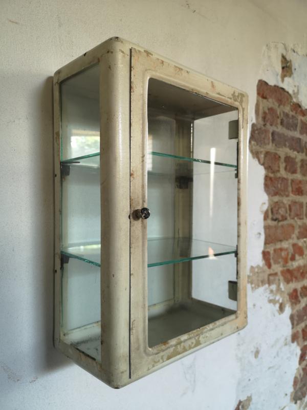 Vintage steel medicine cabinet