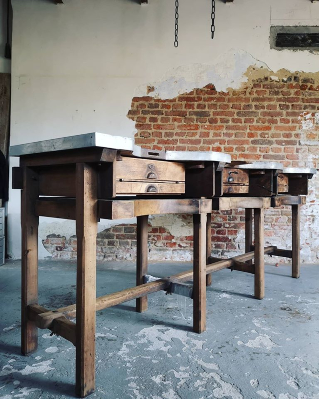 Antique jewelers worktable