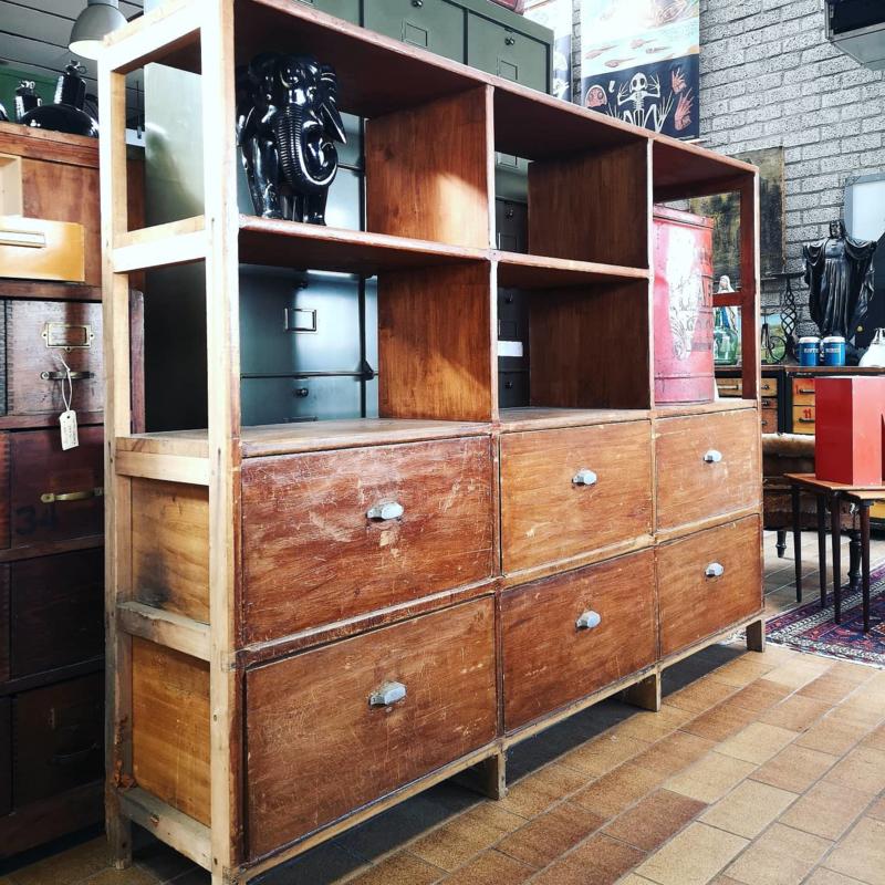 Vintage drawercabinet/bookcase
