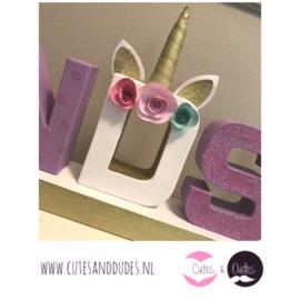 Blokletters: I love unicorns