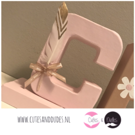 Blokletters: Bohemian pink blush
