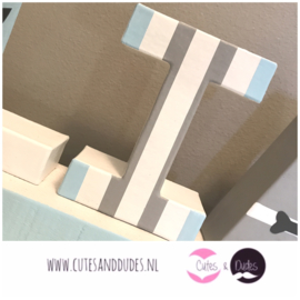 Blokletters: blue & grey extra