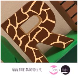 Blokletters: jungle thema