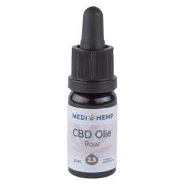 CBD Olie Raw  2,5 % Naturel