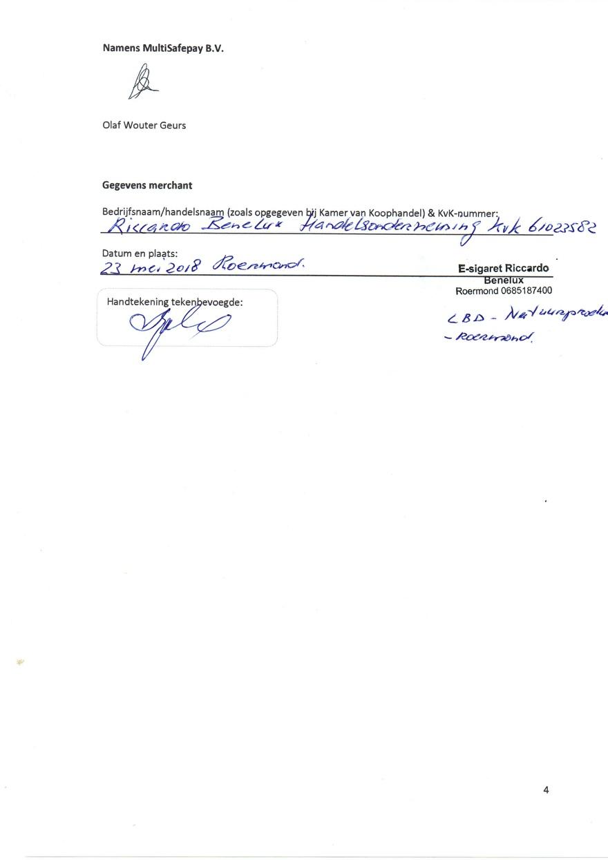Verwerkinsovereenkomst van Multisafepay_10