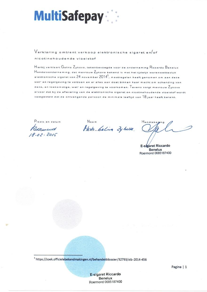 Verwerkinsovereenkomst van Multisafepay_11