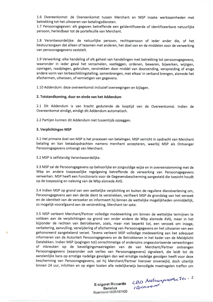 Verwerkinsovereenkomst van Multisafepay_8