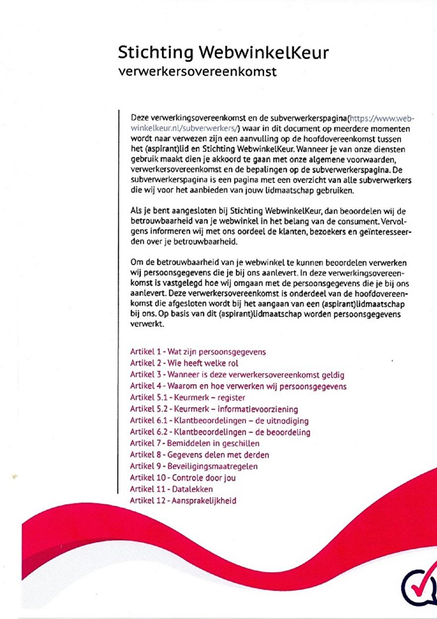 Verwerkinsovereenkomst van Webwinkelkeur_2