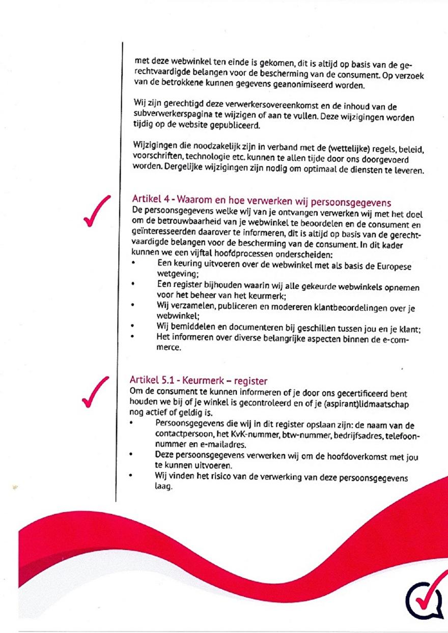 Verwerkinsovereenkomst van Webwinkelkeur_4