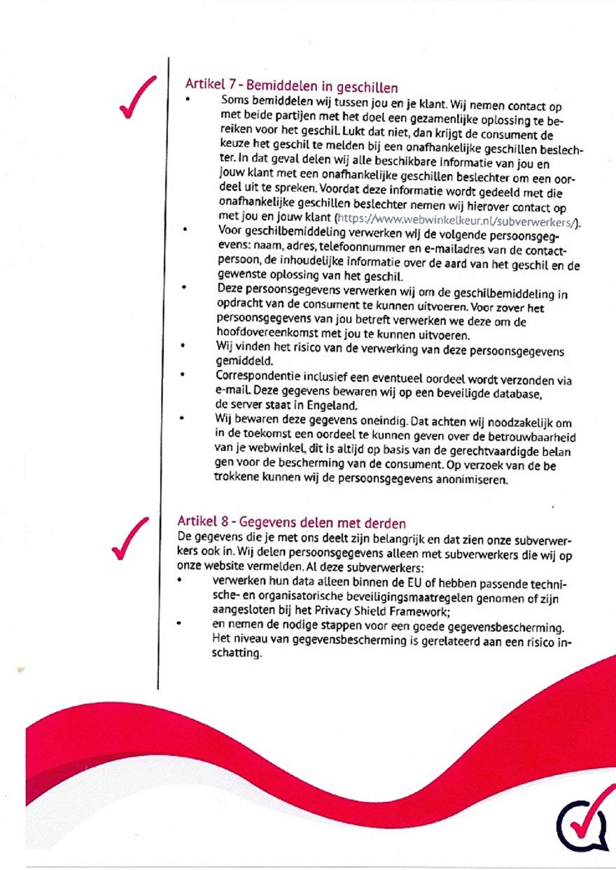Verwerkinsovereenkomst van Webwinkelkeur_7