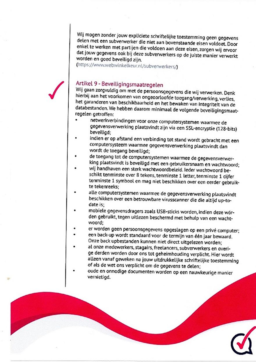 Verwerkinsovereenkomst van Webwinkelkeur_8