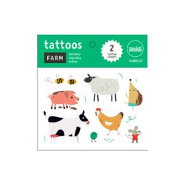 Tattoo's BOERDERIJDIEREN Makii