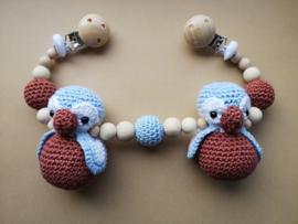 Kinderwagenspanner Pinguin Pollie Baby Blue