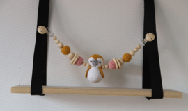 Wagenspanner Pinguin Pollie Oker en Blush