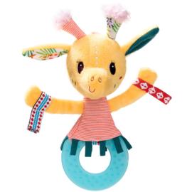 lilliputiens rammelaar/bijtring girafje Zia