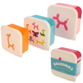 Lunchboxen set - Ballondiertjes