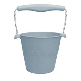 Scrunch Emmertje- bucket eendeblauw lichtblauw