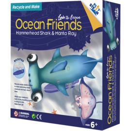 PlaySteam bouwset oceaanvrienden - Haai en Rog