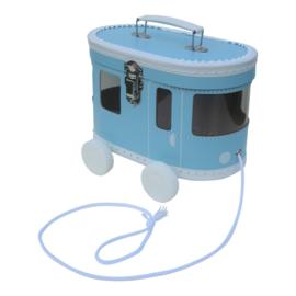 Speelkoffertje tram blauw