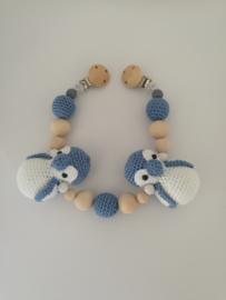 Wagenspanner pinguin blauw