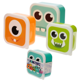 Set 3 snackboxen Monstarz