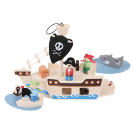 Bigjigs Pirate Schip Mini
