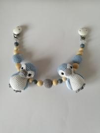 Wagenspanner pinguin  pastel blauw